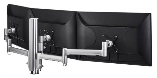 Atdec 400mm Post With Three Monitor Arms - Silver ( Awms-3-137140-s )