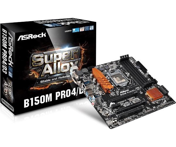 Asrock  Lga1151 Matx Mb ( B150m Pro4/d3 )
