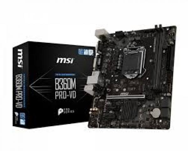 Msi Intel Matx Motherboard VGA (B360M PRO-VD)