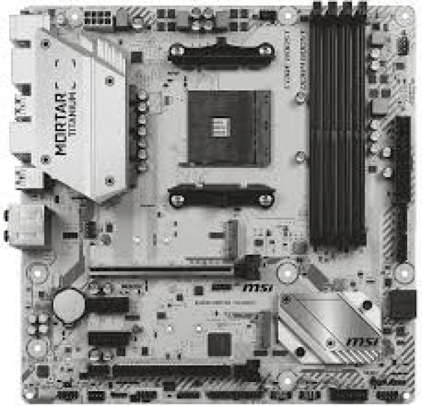 Msi Amd Matx Motherboard (B450M MORTAR TITANIUM)