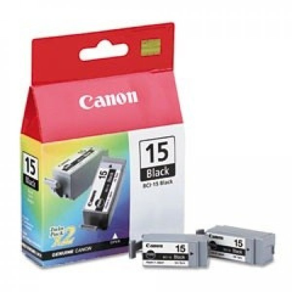 CANON I80 / Ip90 Blk Ink Ctg Twin Pk Twin BCI15BK