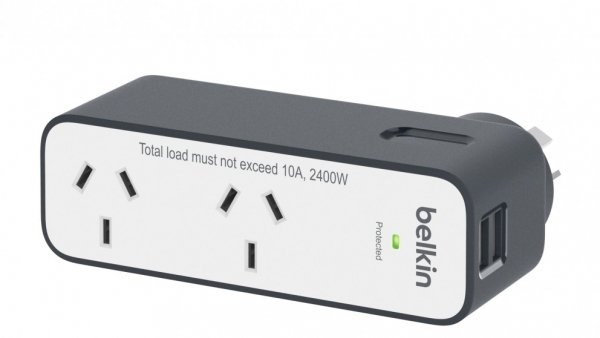 BELKIN Domestic Travel Surge With 2 Usb Ports BST200AU