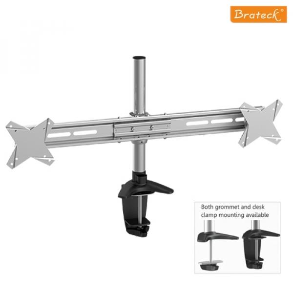 BRATECK  Elegant Dual Vertical Lcd Monitor Table BT-LDT02-C02