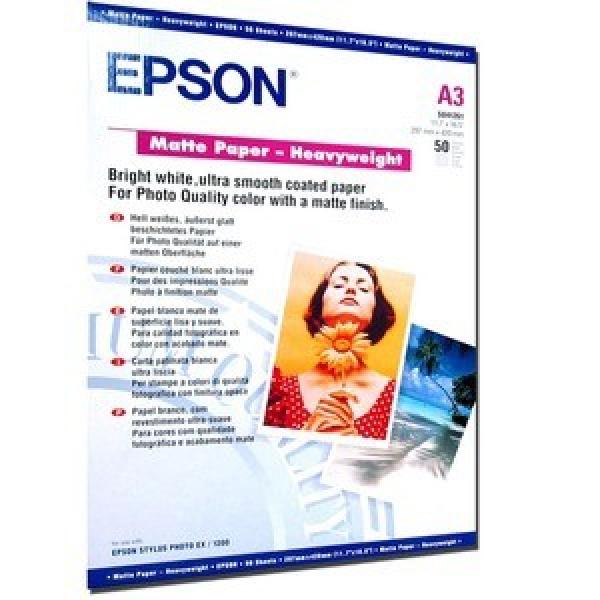 EPSON Matte Paper Heavyweight A3 50 C13S041261