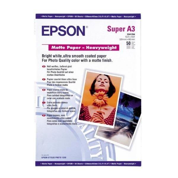 EPSON Matte Paper Heavy Weight A3+ 50 C13S041264