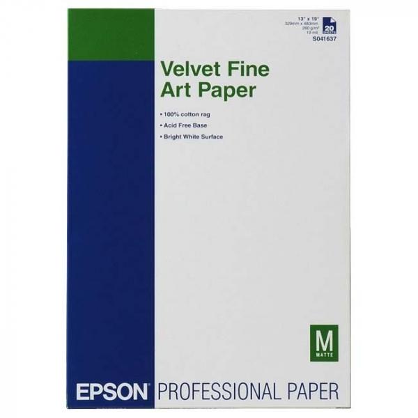 EPSON A3+ Velvet Fine Paper 20pk C13S041637