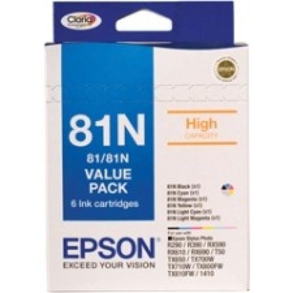 EPSON 81n Value Pack- Black Cyan Magenta Yellow C13T111792