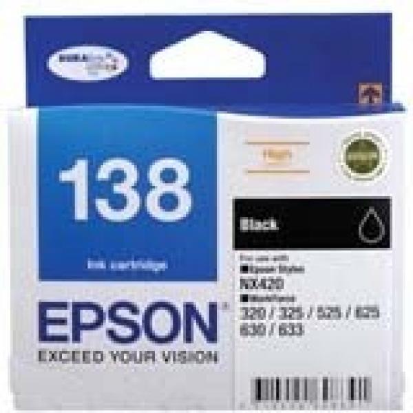 EPSON High Capacity Black Ink Cart Stylus Nx420 C13T138192