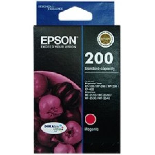 EPSON 200 Standard Durabrite Ultra Magenta Ink C13T200392