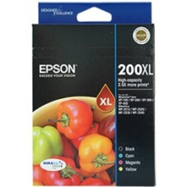 EPSON 200xl High Durabrite Ultra 4 Ink Value C13T201692