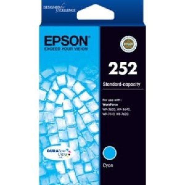 EPSON 252 Std Capacity Durabrite Ultra Cyan Ink C13T252292