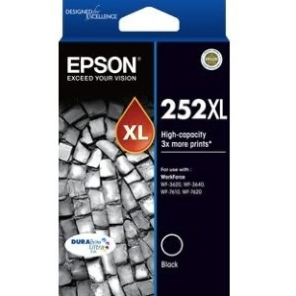 EPSON 252xl High Capacity Durabrite Ultra Black C13T253192