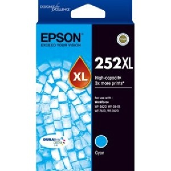 EPSON 252xl High Capacity Durabrite Ultra Cyan C13T253292