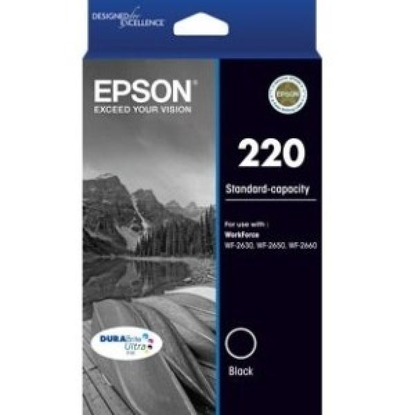 EPSON 220 Std Cap Durabrite Ultra Blk Ink C13T293192