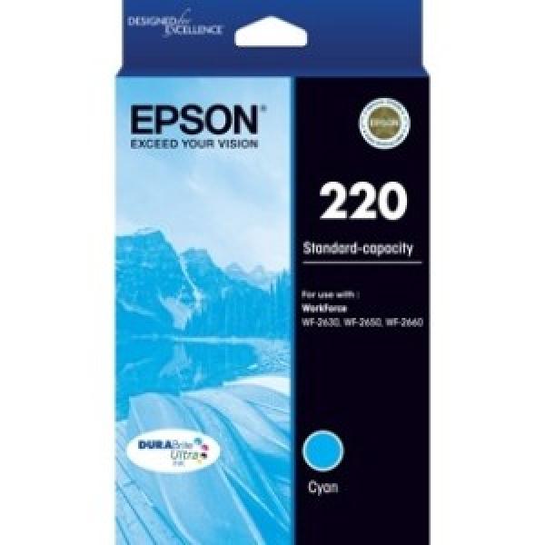 EPSON 220 Std Cap Durabrite Ultra Cyan Ink C13T293292