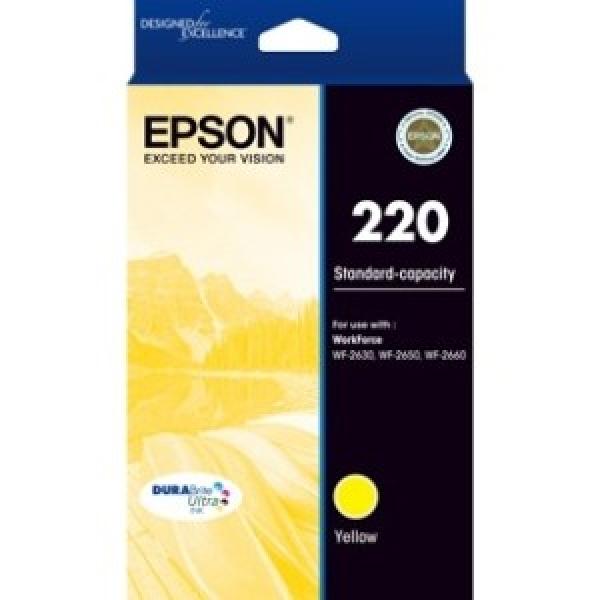 EPSON 220 Std Cap Durabrite Ultra Yellow Ink C13T293492