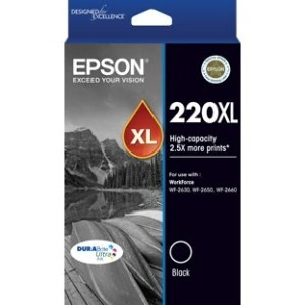 EPSON 220xl High Cap Durabrite Ultra Black Ink C13T294192