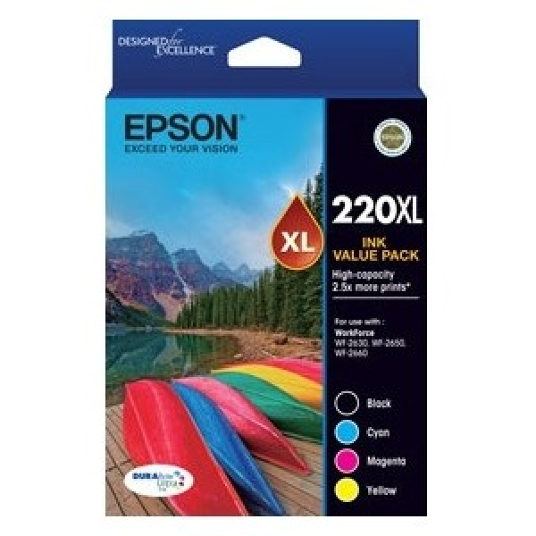 EPSON 220xl Four Clr Std Value Pk (blkcmy) C13T294692
