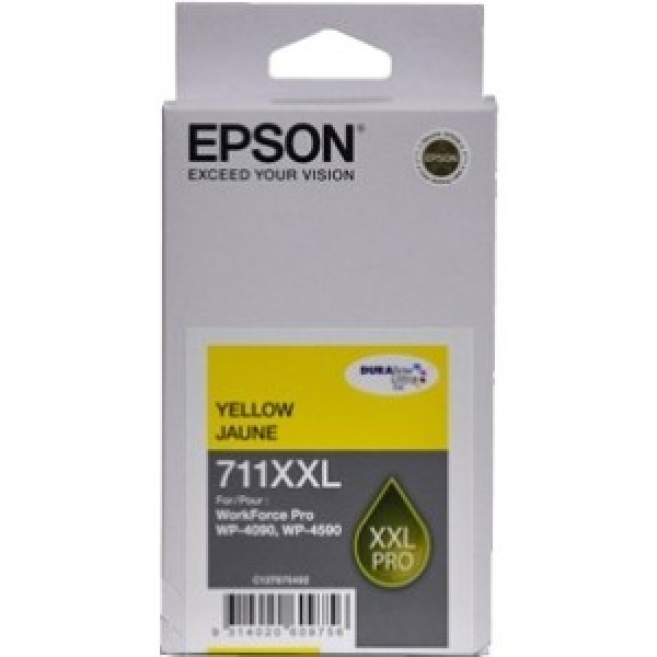 EPSON 711xxl Capacity Yellow Ink Cartridge For C13T675492