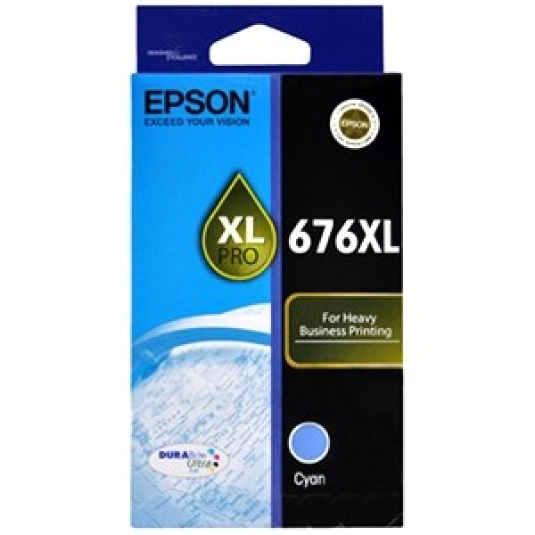 EPSON 676xl Cyan Ink Cartridge For Workforce C13T676292