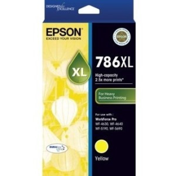 EPSON 786xl Yellow Ink Cart For Workforce Pro C13T787492