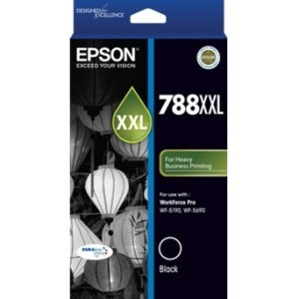 EPSON 788xxl Black High Capacity 4k Pages Suits C13T788192
