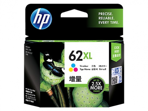 HP  62xl Tri-color Ink C2P07AA