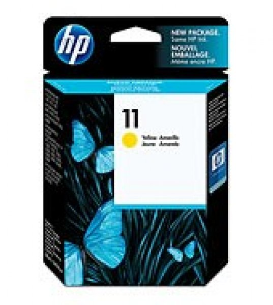 HP  11 Yellow Ink 2450 Page Yield For Bij Oj C4838A