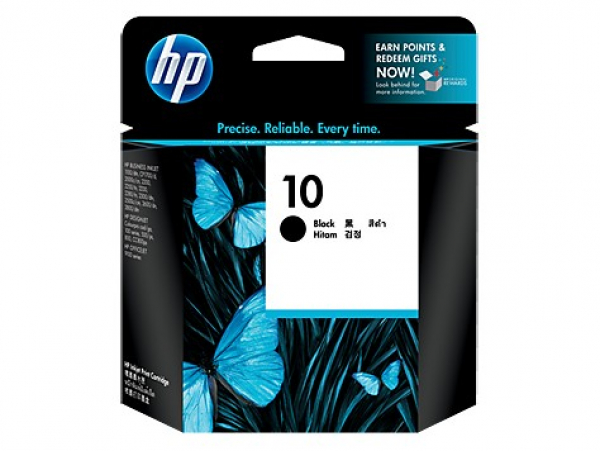 HP  10 Black Ink 2200 Page Yield For Bij Oj C4844A