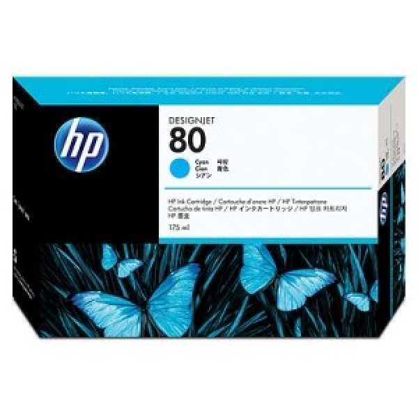 HP 80 Cyan Ink 350ml For Designjet C4846A