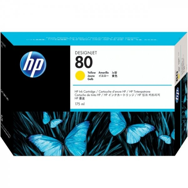 HP  80 Yellow Ink 350 Ml For Dj C4848A