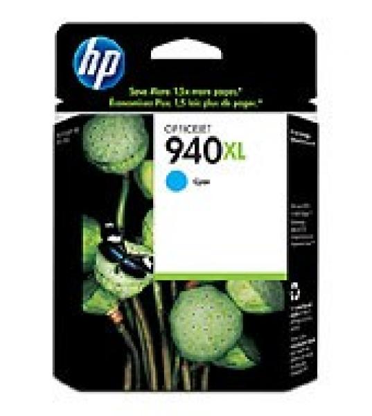 HP  940xl Cyan Ink 1400 Page Yield For Oj Pro C4907AA
