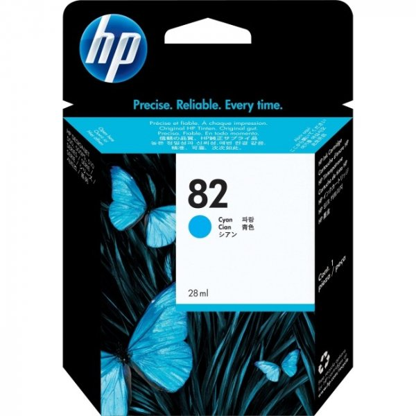 HP  No 82 Cyan Ink Cartridge For Dj 500 800 C4911A