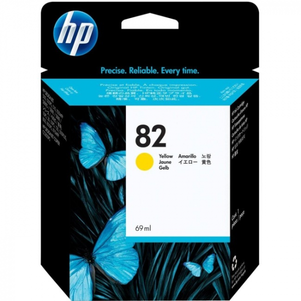 HP  82 Yellow 69-ml Ink Cartridge For C4913A