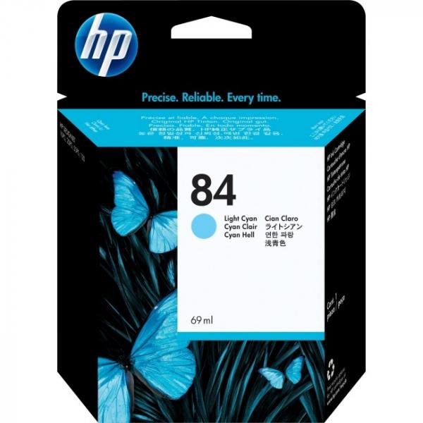 HP  84 Light Cyan Ink Cartridge 69ml For Dj130 C5017A
