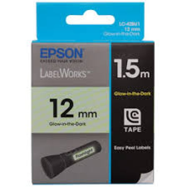 EPSON Tape Glow-in-the-dark 12mm Black On Glow C53S625111