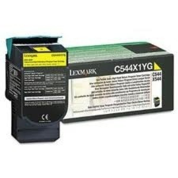LEXMARK Yellow Toner Yield 4000 Pages For C544 C544X1YG