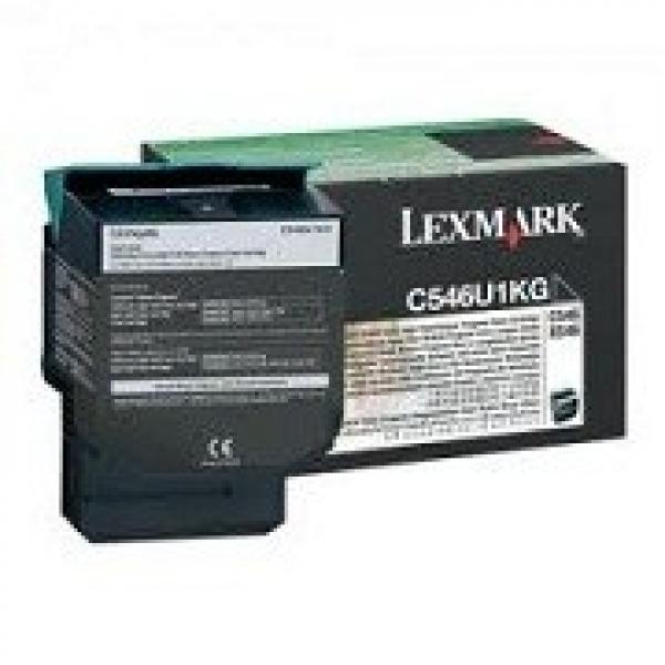 LEXMARK Black Toner 8000 Page Yield For C546 C546U1KG