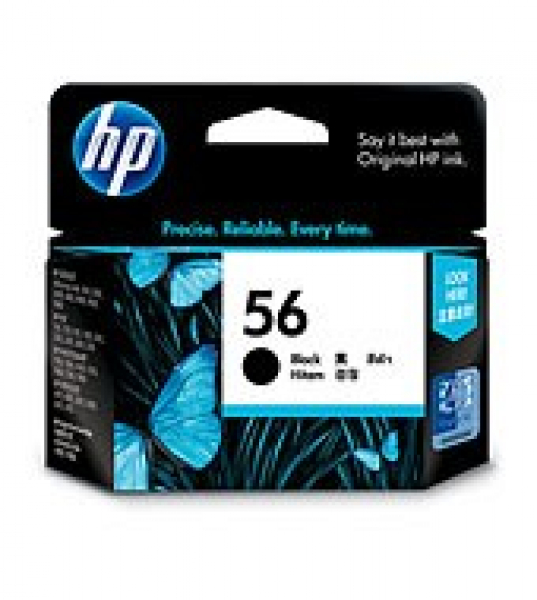 HP  56 Black Ink 520 Page Yield For Psc 7xxx C6656AA