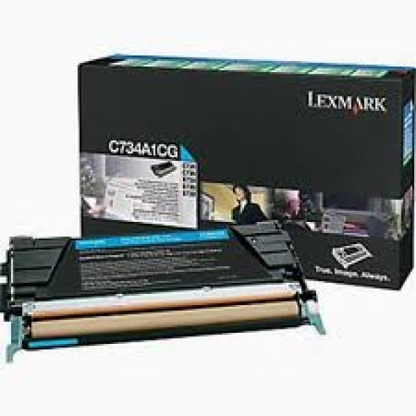 LEXMARK Cyan Toner Prebate Yield 6000 Pages For C734A1CG