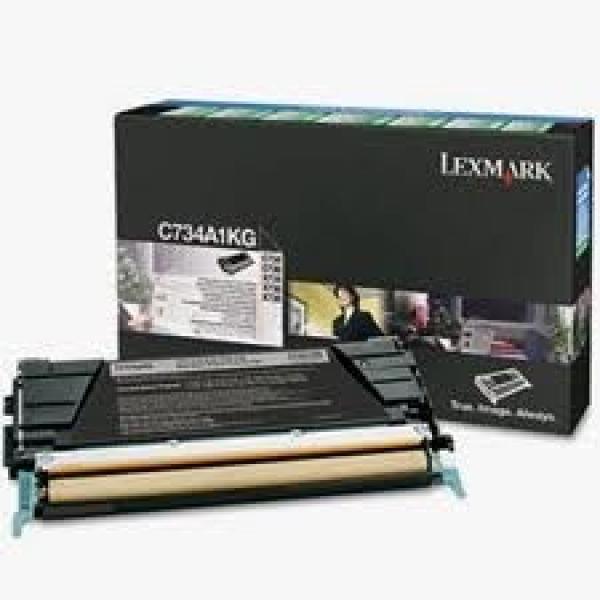 LEXMARK Black Prebate Toner Yield 8000 Pages C734A1KG