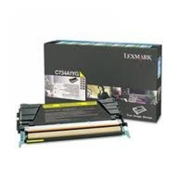 LEXMARK Yellow Toner Prebate Yield 6000 Pages C734A1YG