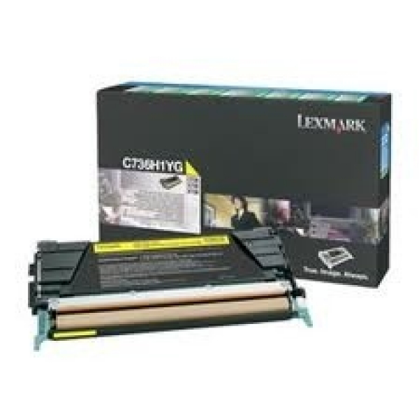 LEXMARK Yellow Toner Prebate Yield 10000 Pages C736H1YG