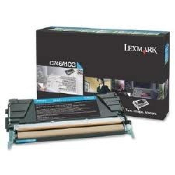LEXMARK C746 C748 Cyan 7k Toner Return C746A1CG