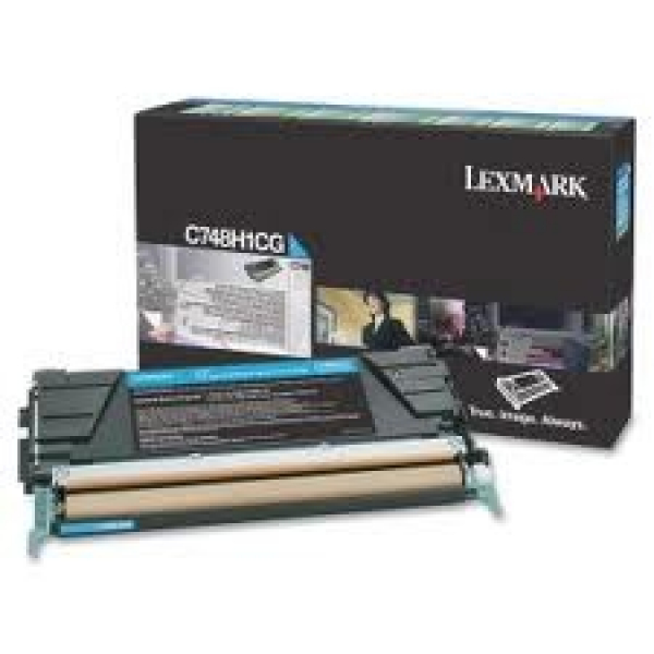 LEXMARK C748 Cyan High Yield 10k Toner Return C748H1CG