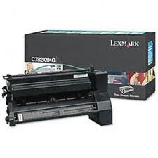 LEXMARK Black (prebate) Toner Yield 15000 Pages C782X1KG