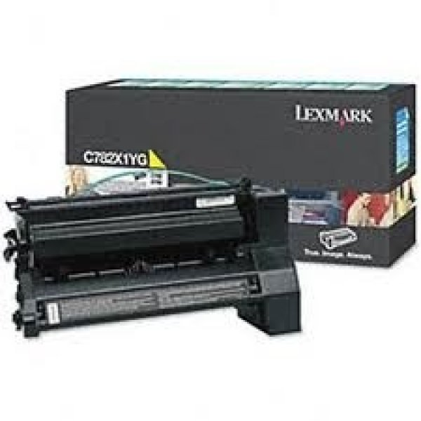 LEXMARK Yellow (prebate) Toner Yield 15000 C782X1YG
