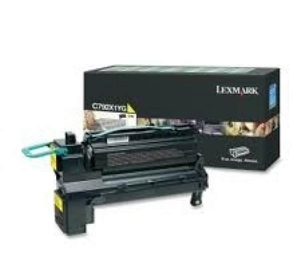 LEXMARK Yellow (prebate) Toner Yield 20000 C792X1YG