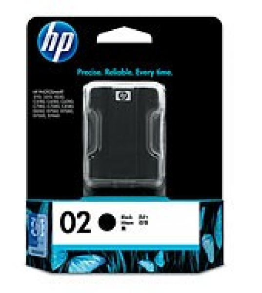 HP  02 Black Ink 660 Page Yield For Psc 8250 C8721WA