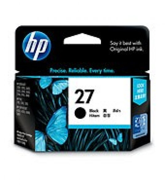 HP  27 Black Ink 280 Page Yield For Dj C8727AA